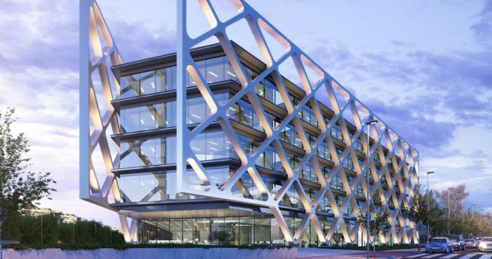 Exterior edificio oficinas oxxeo Madrid